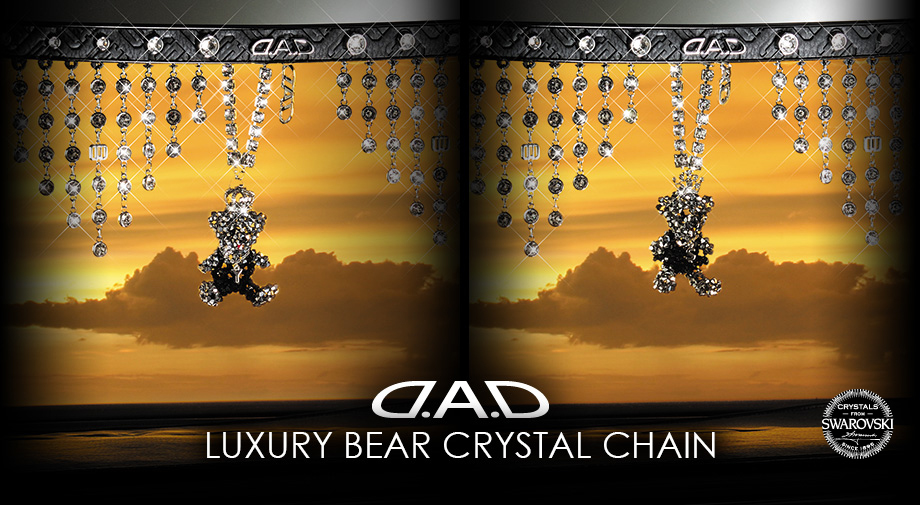 D.A.D BEAR CRYSTAL CHAIN