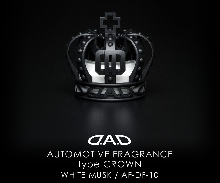 AUTOMOTIVE FRAGRANCE type CROWN MATTE BLACK WHITE MUSK