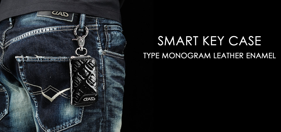 LUXURY SMART KEYCASE type MONOGRAM LEATHER ENAMEL