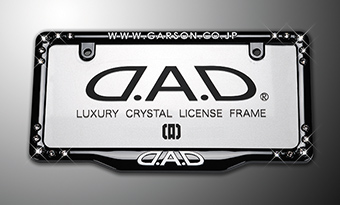 D.A.D CRYSTAL LICENSE FRAME FRONT MODEL【BLACK】