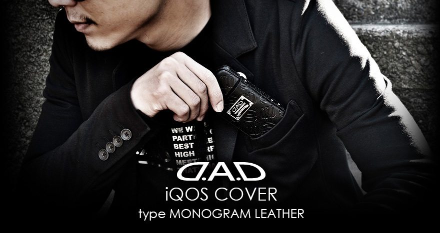 D.A.D iQOS COVER type MONOGRAM LEATHER